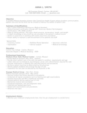 Entry Level & Freshers Medical Assistant Resume