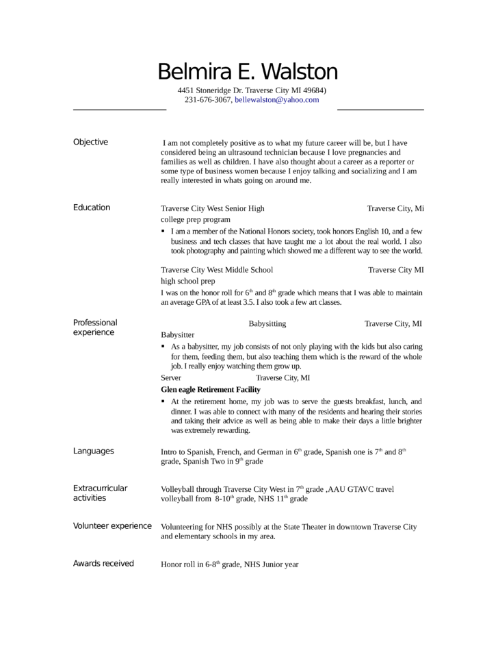 entry level  u0026 freshers ultrasound technician resume