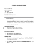 Executive Accountant Resume