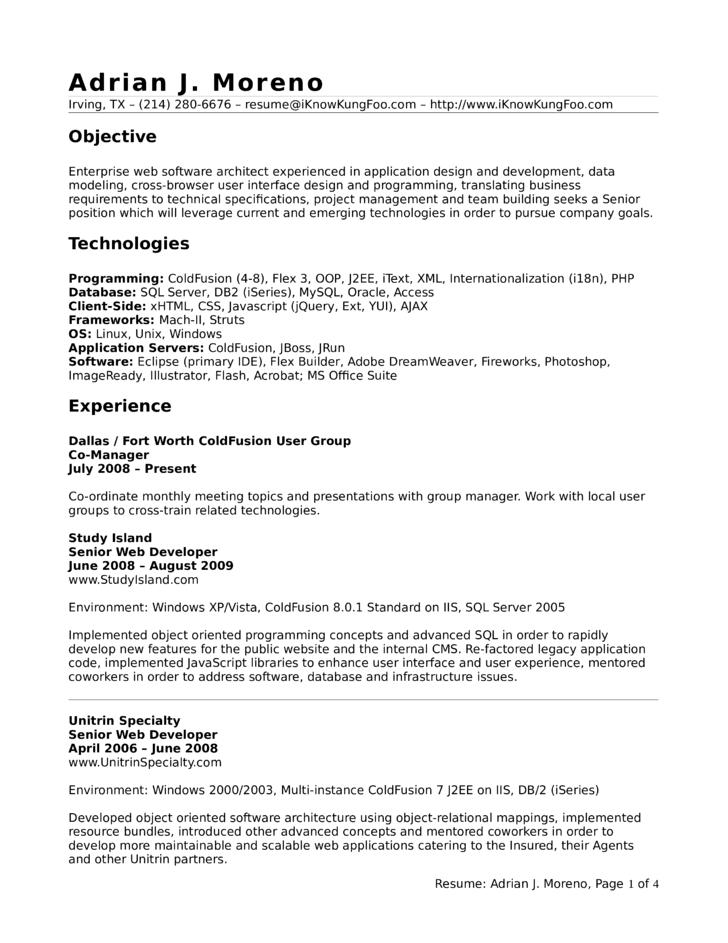 executive application developer resume - Web Application Developer Resume