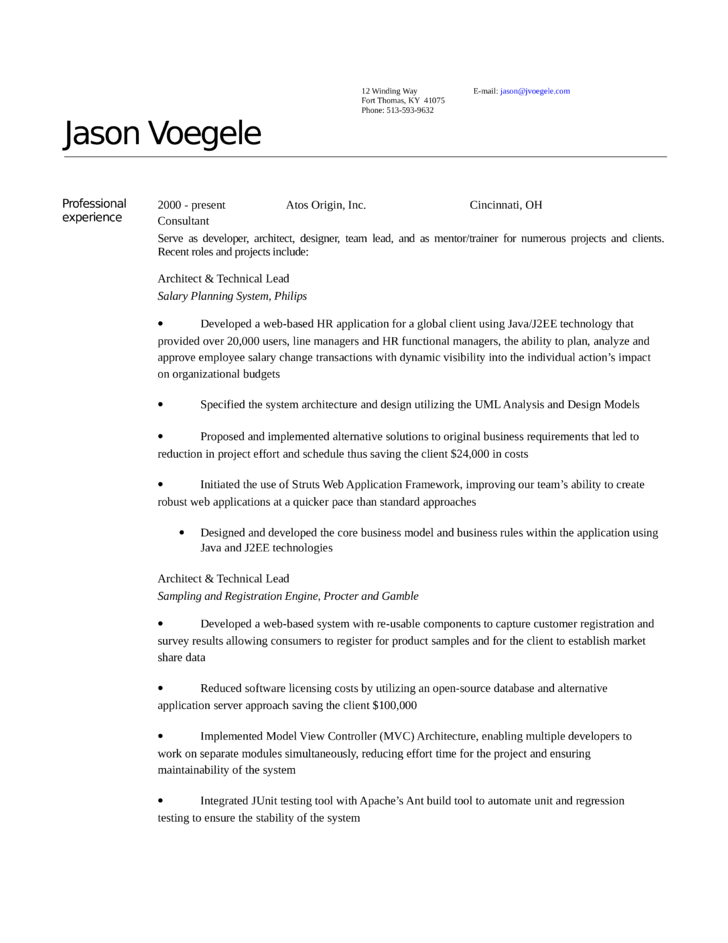 executive architect resume