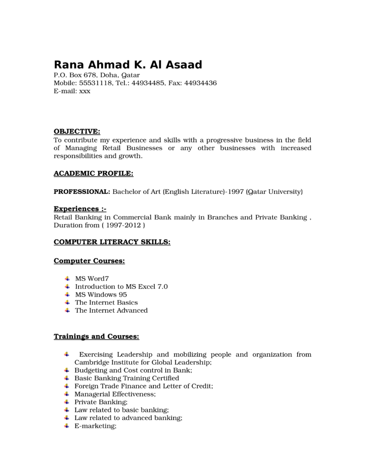 executive branch manager resume template