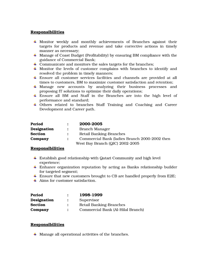 Suppose You Are Confused To Arrange A Bank Manager Resume It Is Better For  You To  Branch Manager Resume