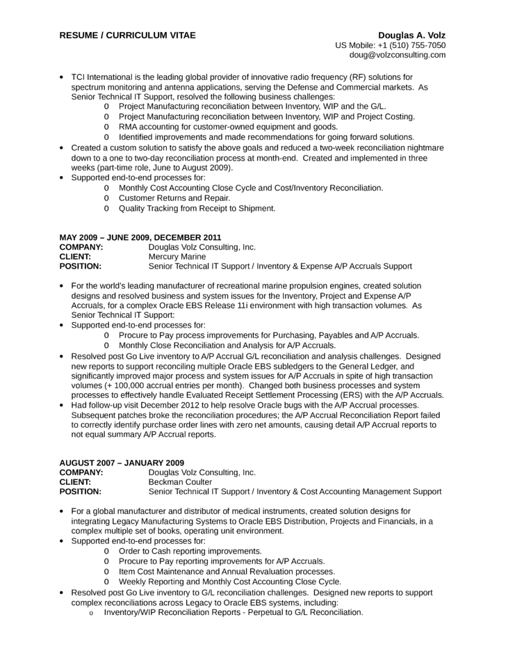 Executive Business Process Analyst Resume Page12  Business Process Analyst Resume