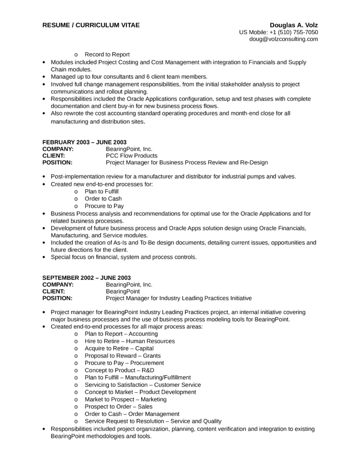Executive Business Process Analyst Resume Template | page 15