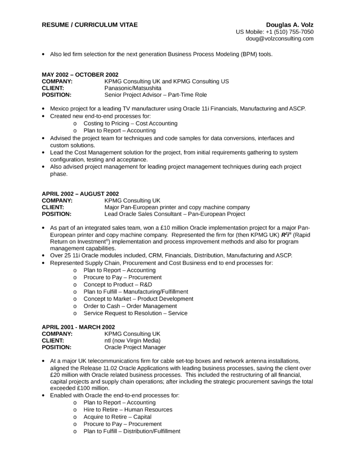 Executive Business Process Analyst Resume Template | page 16