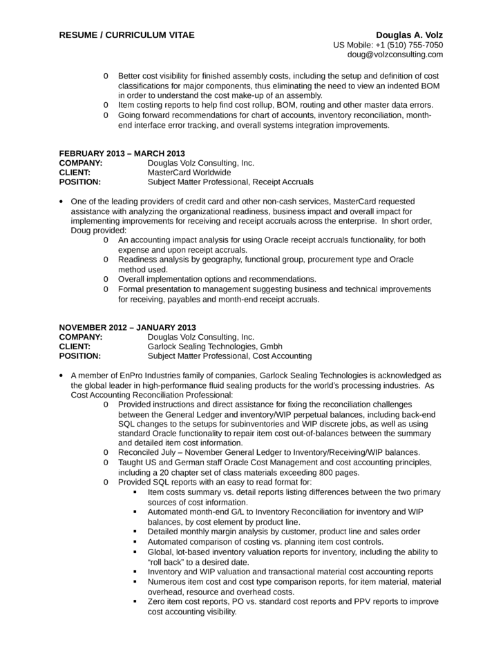 Executive Business Process Analyst Resume Page7