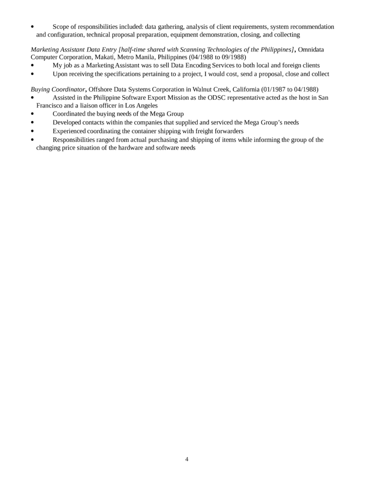 Executive Desktop Support Technician Resume Template Page 4. Help ...