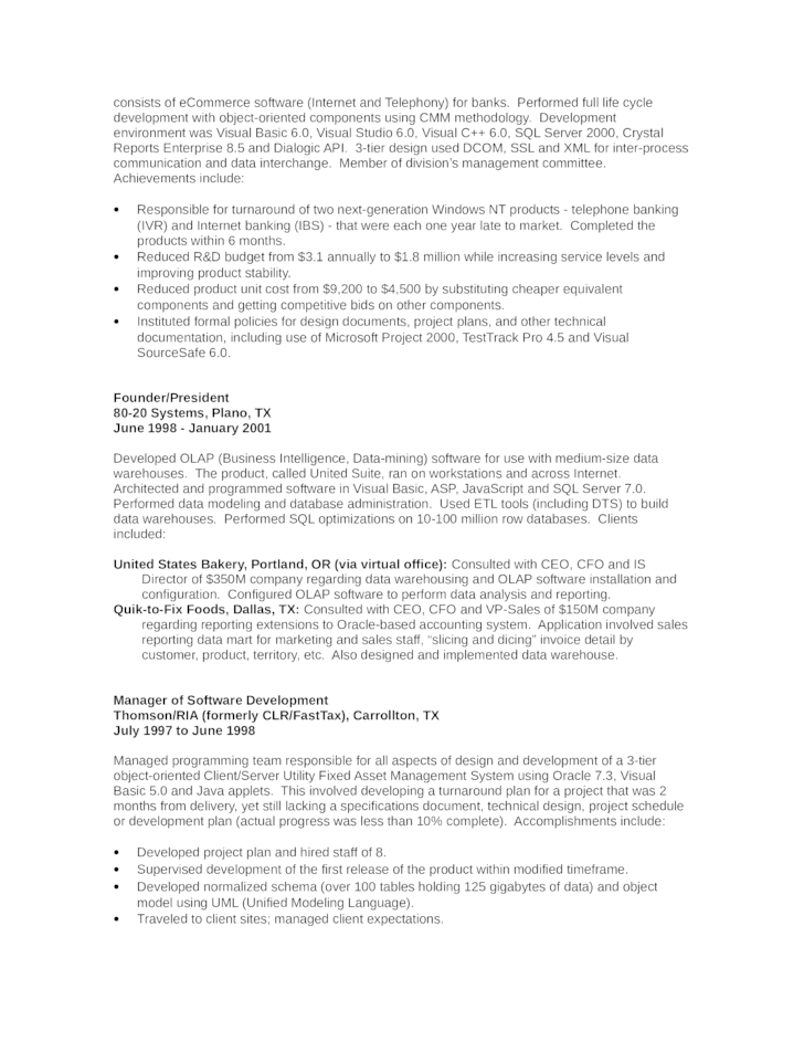 executive director of development resume template page 2