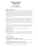 Executive Director Of Finance Resume Example