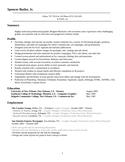 Executive Graphics Designer Resume Template | page 2