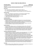 Executive HR Manager Resume Example
