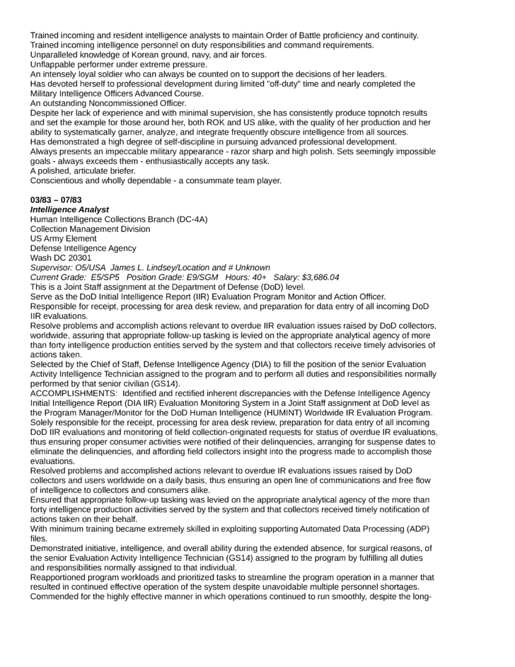Executive Intelligence Analyst Resume Template | page 14