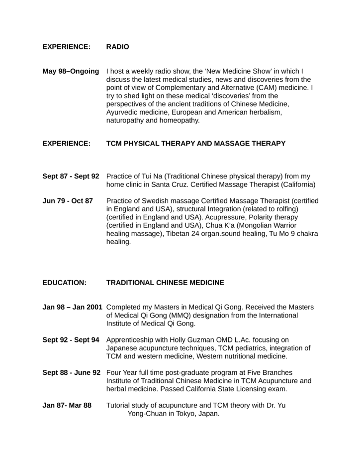 Executive Massage Therapist Resume Page5  Massage Therapy Resumes
