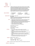 Executive National Account Manager Resume