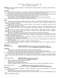 Executive Scientist Resume