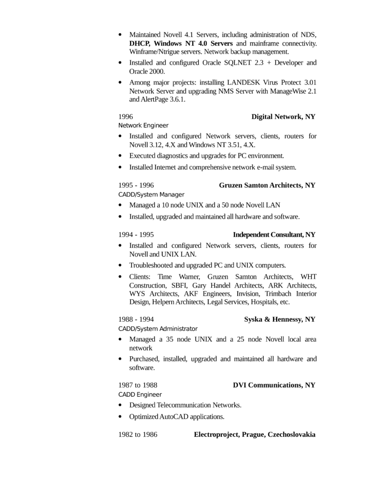 executive technical support engineer resume template