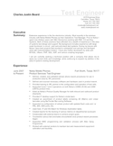 Executive Test Engineer Resume