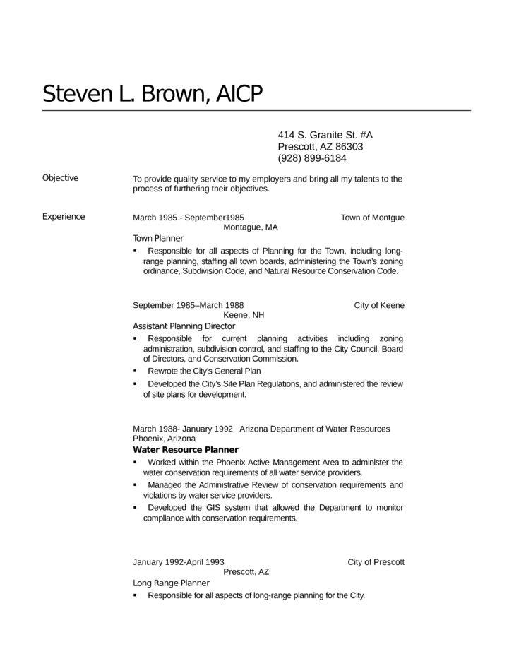 executive zoning manager resume template