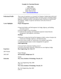 Functional Civil Engineer Resume