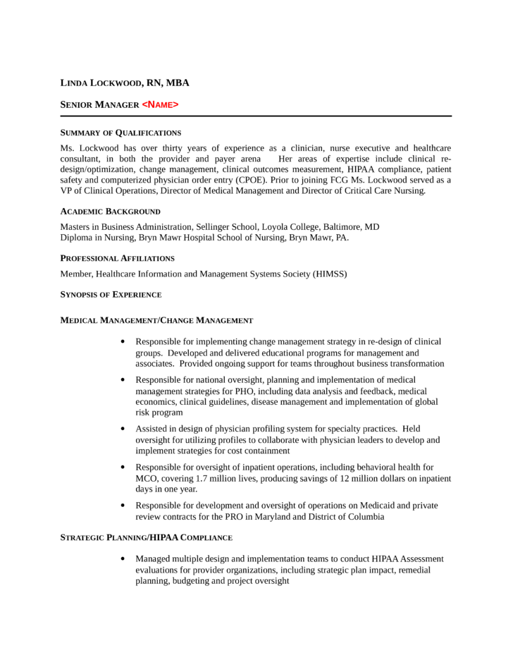 functional director of nursing resume template