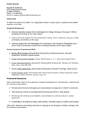 Functional Drafter Resume