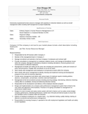Functional resume human resource manager