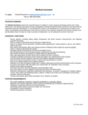 Funtional resume for medical assistant