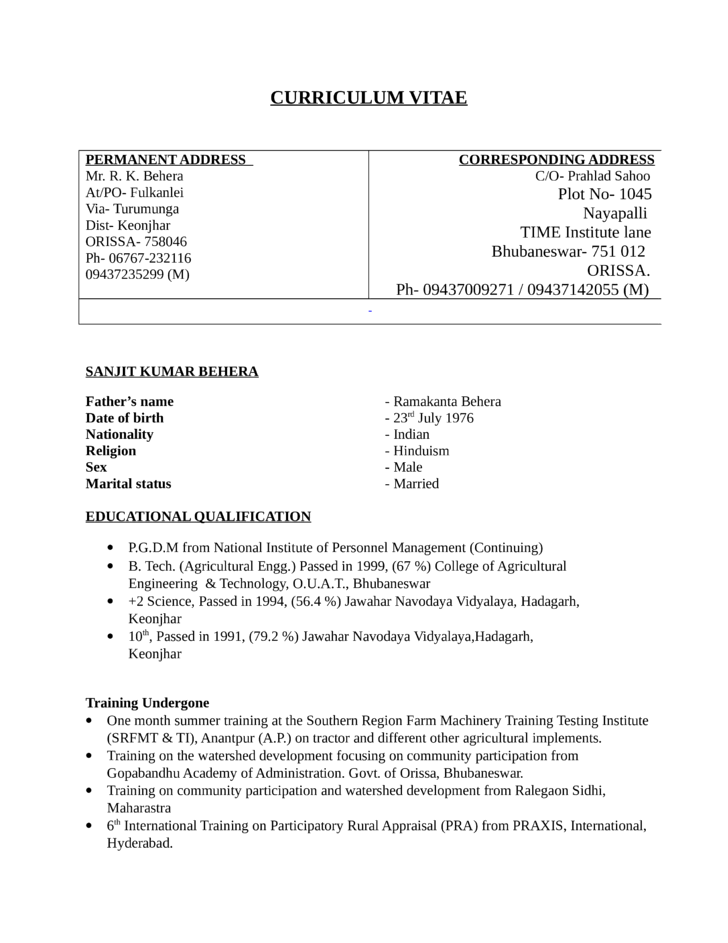 functional project coordinator resume template
