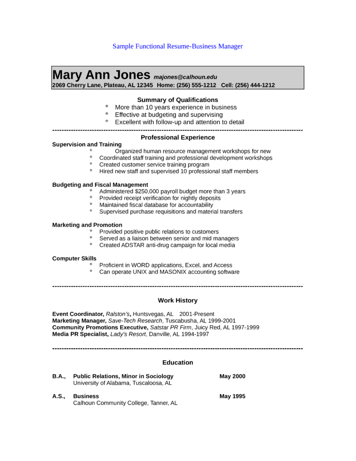 Functional Public Relations Manager Resume  Resume For Public Relations