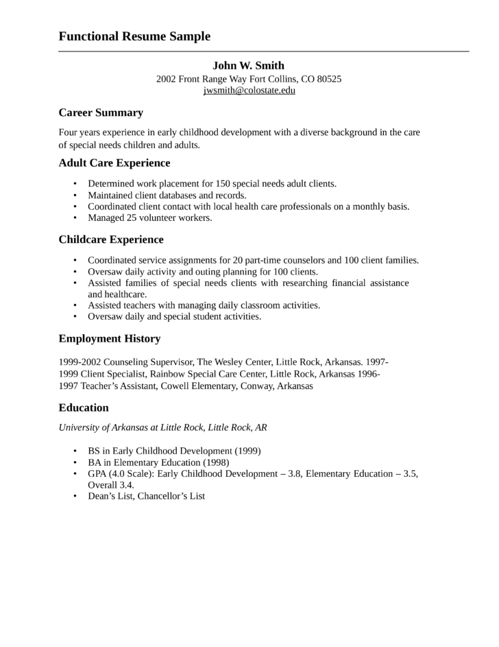 sample youth worker resume