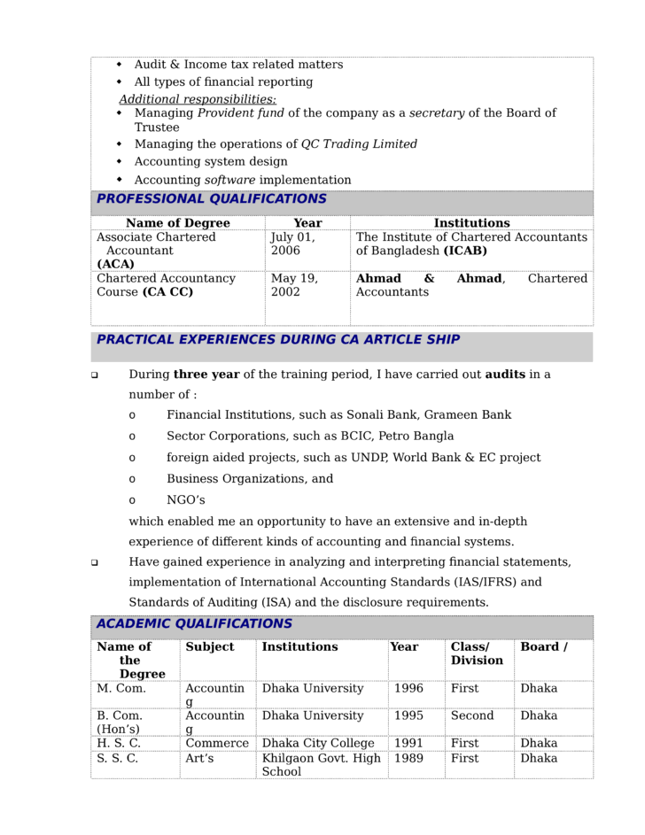 modern financial reporting manager resume template page 2