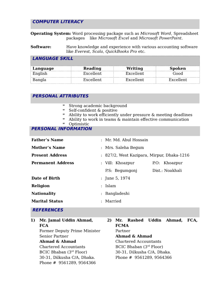 Modern Financial Reporting Manager Resume Template Page 3