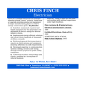 Newsletter Industrial Electrician Resume