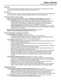 One Page Engineering Manager Resume