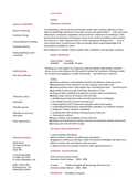 One Page Head Cashier Resume