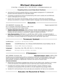 One Page Help Desk Analyst Resume