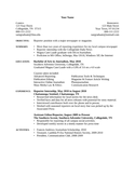 One Page Journalist Resume