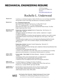 One Page Mechanical Engineer Resume