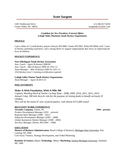 One Page Youth Development Manager Resume