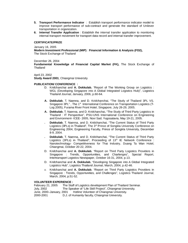 portfolio logistics analyst resume template page 3