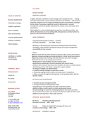 Professional Account Manager Resume Example