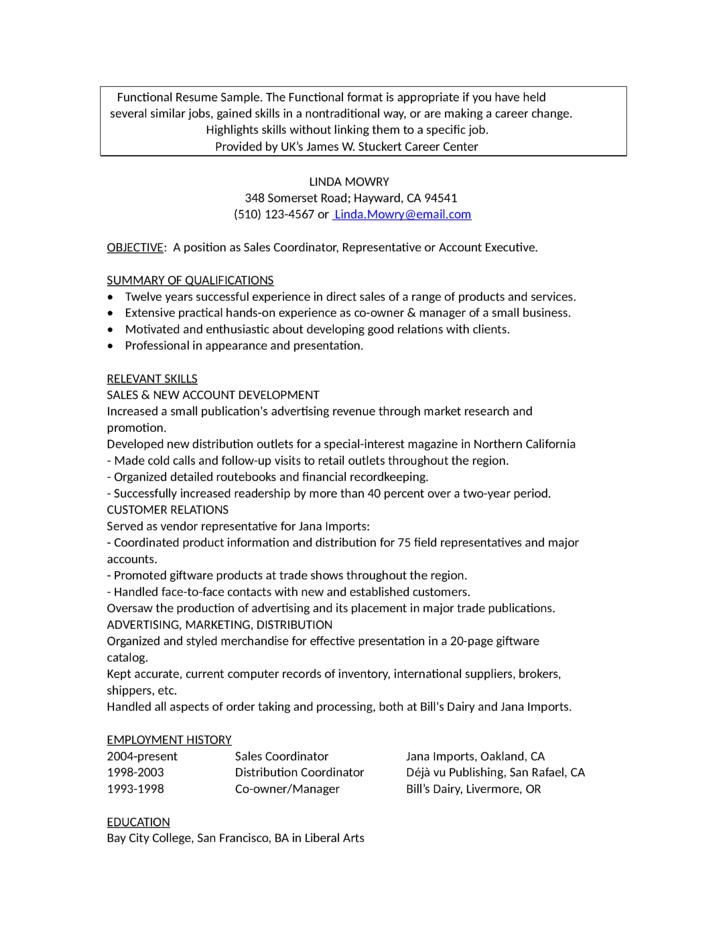 professional account representative resume template