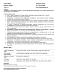 Professional Analyst Resume