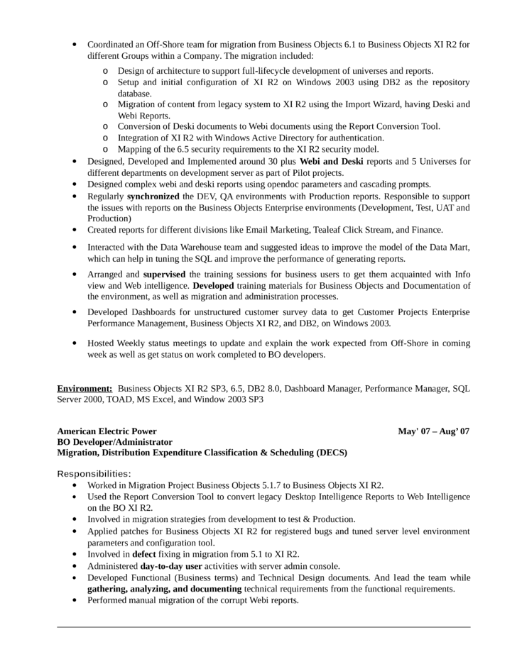 professional business objects developer resume page2