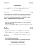 Professional Director Of Business Development Resume