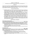 Professional Electrical Engineer Resume