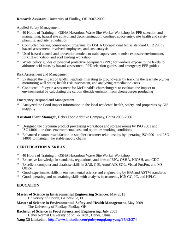 professional environmental engineer resume template page 2