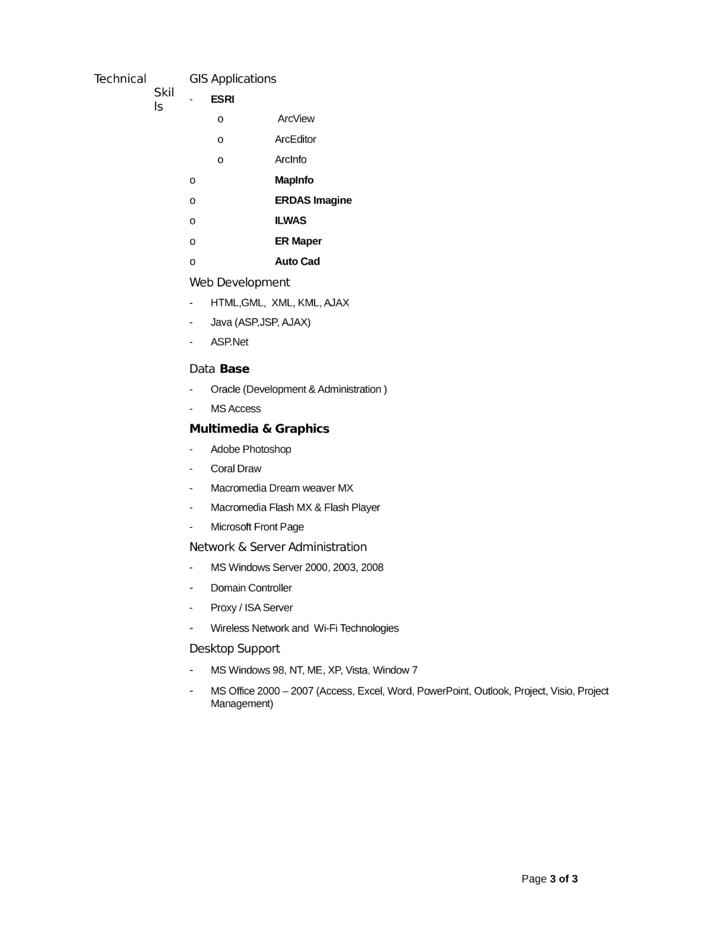 professional gis technician resume template page 3