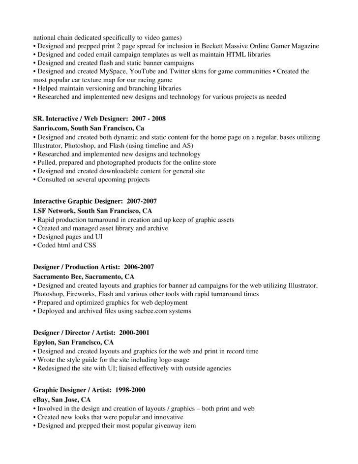 professional graphics designer production artist resume template